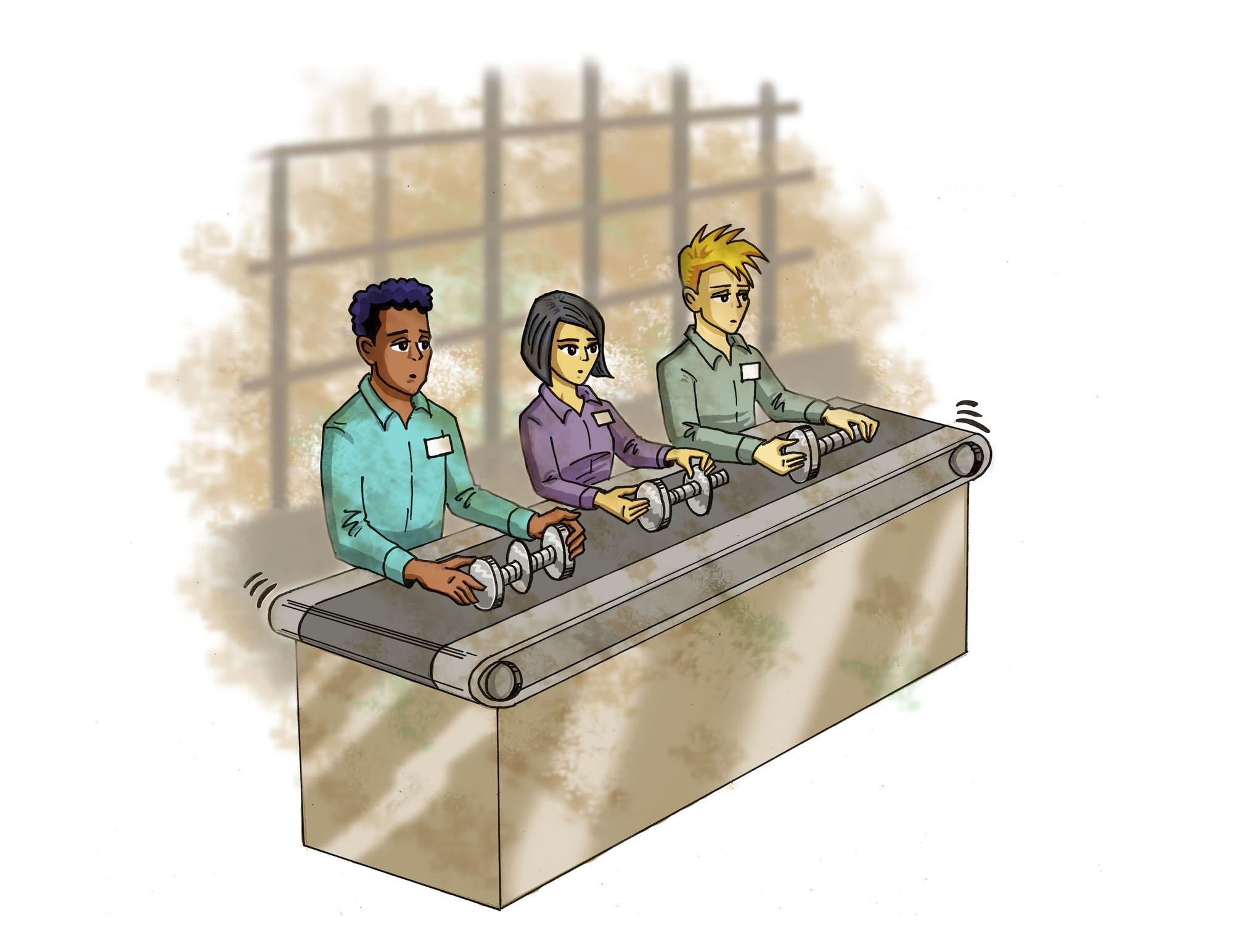 Картинка конвейера для презентации